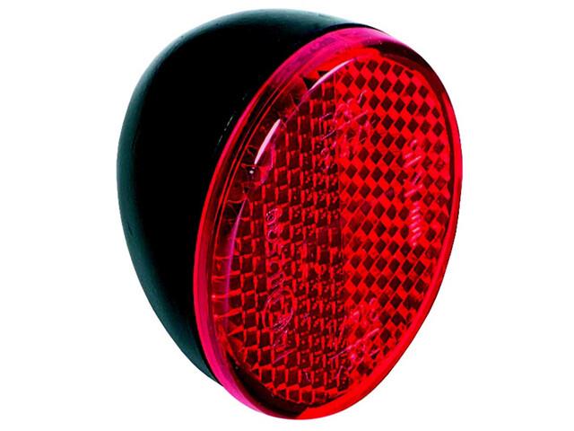 Busch + Müller Lampe arrière ovale - Réflecteur - pour garde-boue rouge/noir